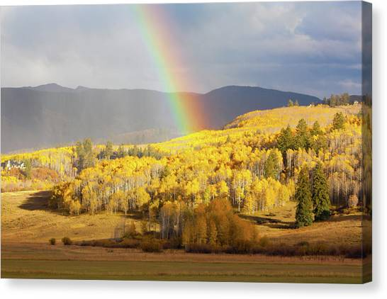 Fall Colors With Rainbow Canvas Print