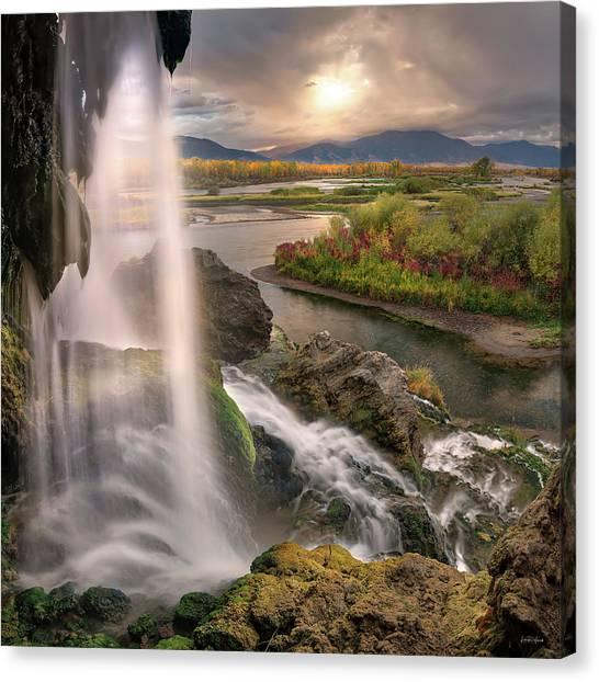 Canvas Print featuring the photograph Fall Creek Falls Sunrise by Leland D Howard