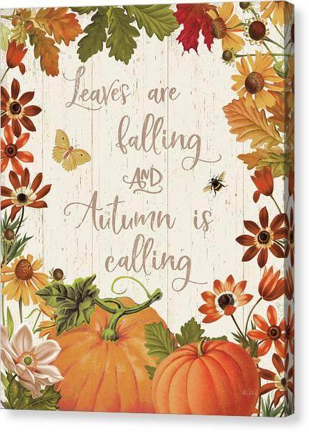 Fall Garden IIi V2 Canvas Print by Katie Pertiet