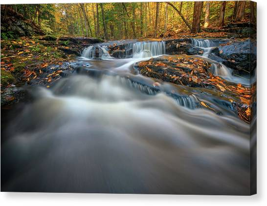 Canvas Print featuring the photograph Fall Morning At Vaughan Brook. by Rick Berk