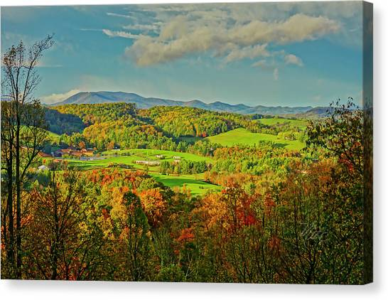 Fall Porch View Canvas Print