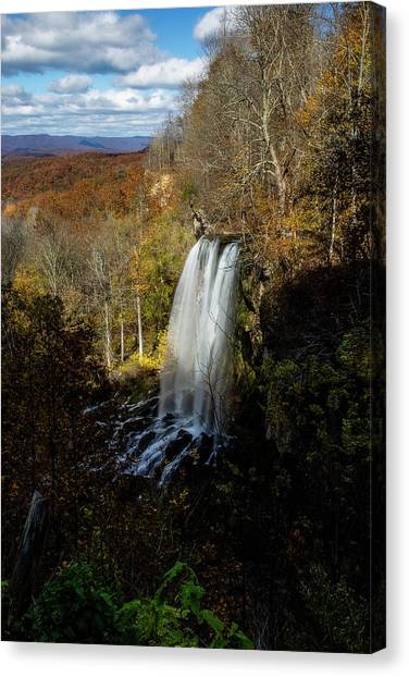 Canvas Print featuring the photograph Falling Spring Falls by Pete Federico