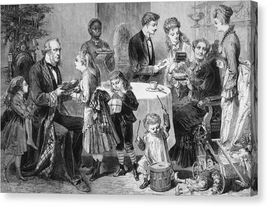 Family Christmas Canvas Print by Hulton Archive