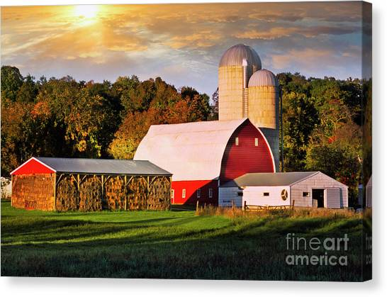 Canvas Print featuring the photograph Family Farm by Scott Kemper