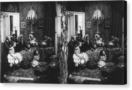 Family Scene Canvas Print by London Stereoscopic Company