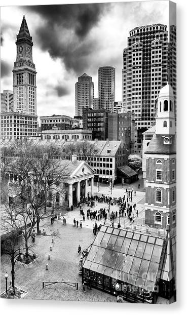 Faneuil Hall Marketplace Boston Canvas Print