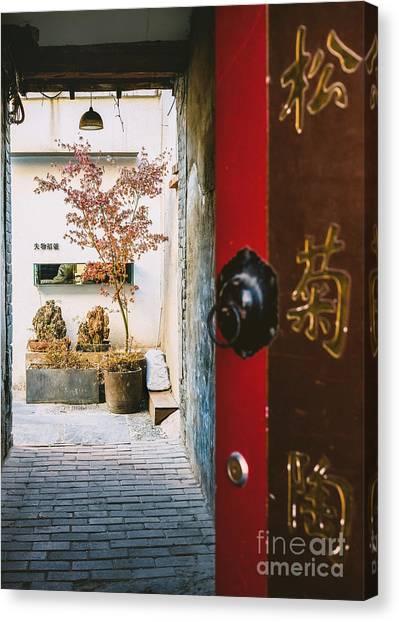 Fangija Hutong In Beijing Canvas Print