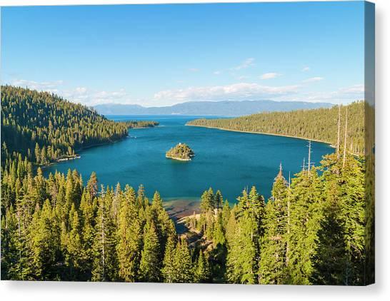 Fannette Island In Emerald Bay, Lake Canvas Print