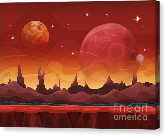 Atmosphere Canvas Print - Fantasy Sci-fi Martian Background For by Benchart