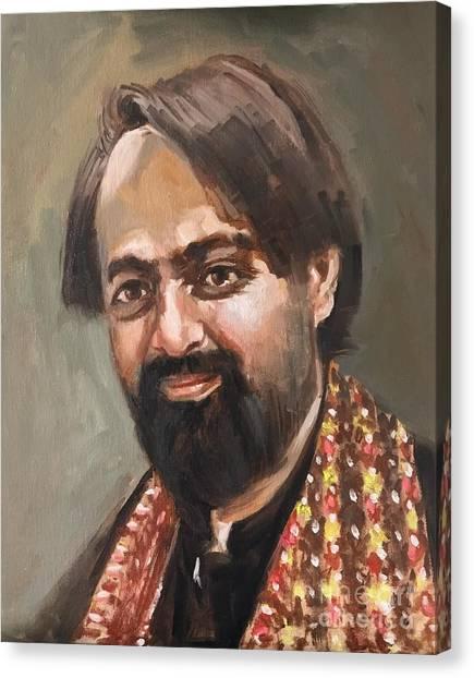 Canvas Print featuring the painting Farhan Shah by Nizar MacNojia