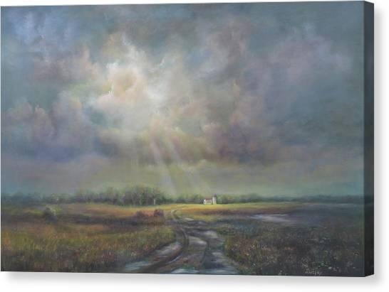 Farm In Spring Canvas Print