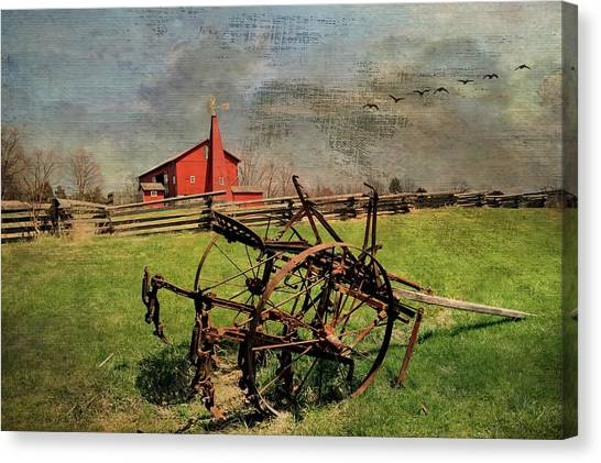 Farming In The 1880s Canvas Print
