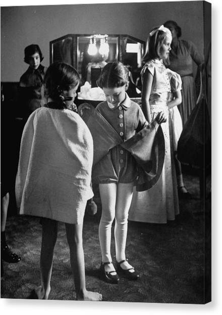 Fashions Childrens Canvas Print by Nina Leen