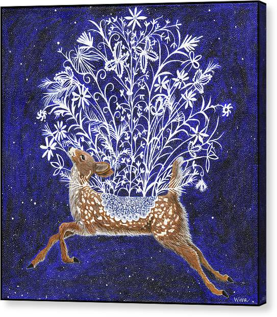 Fawn Bouquet Canvas Print