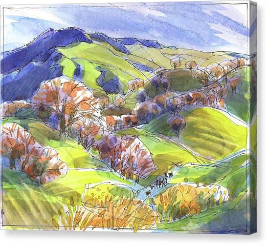 February Landscape With Mount Diablo Canvas Print
