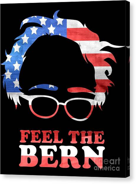 Feel The Bern Patriotic Canvas Print