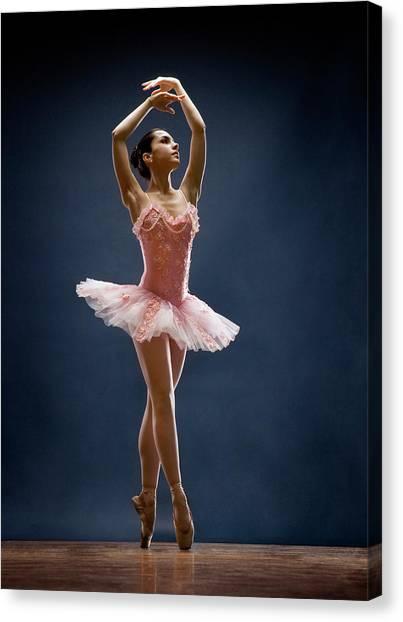 Female Ballet Dancer Dancing Canvas Print by David Sacks