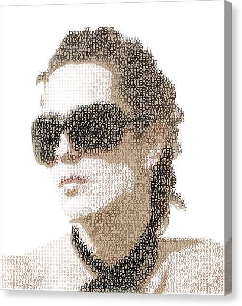 Sun Canvas Print - Femme Fatale. Woman Portrait Made From by Ryger