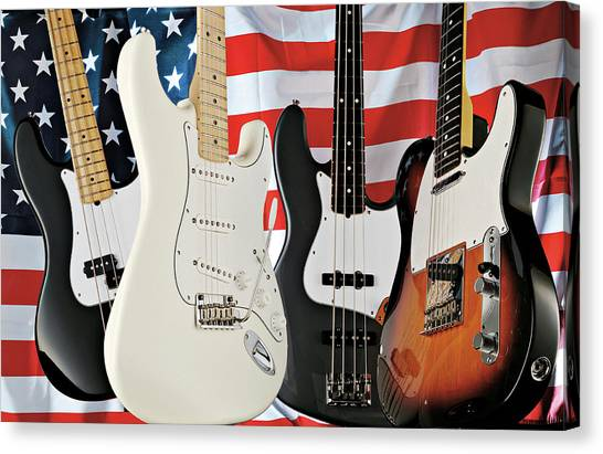 Fender 2008 American Standard Series Canvas Print by Guitarist Magazine