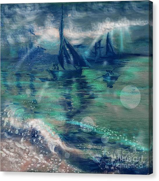 Feng Shui Your Life - Lucky Sailing Boat Canvas Print by Remy Francis
