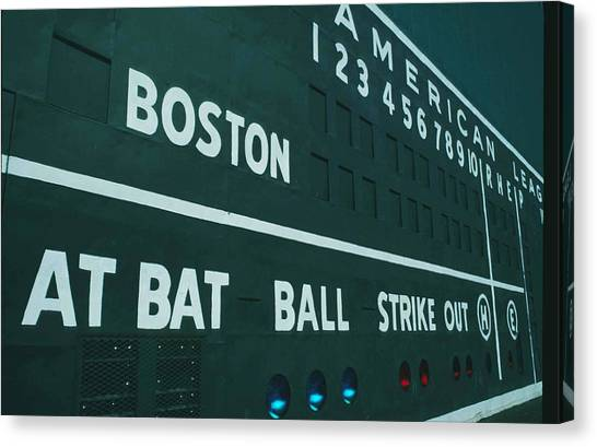 Fenway Canvas Print - Fenway Park by Ronald C. Modra/sports Imagery