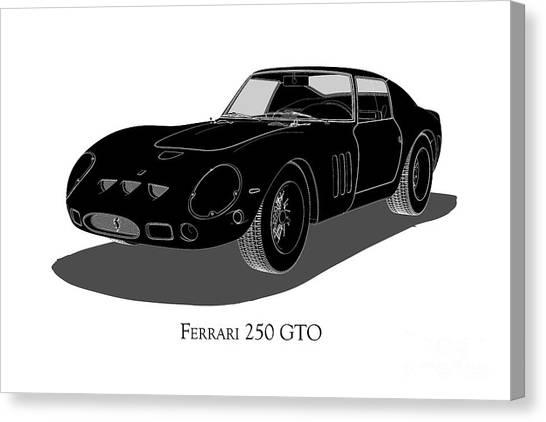 Ferrari 250 Gto - Front View Canvas Print