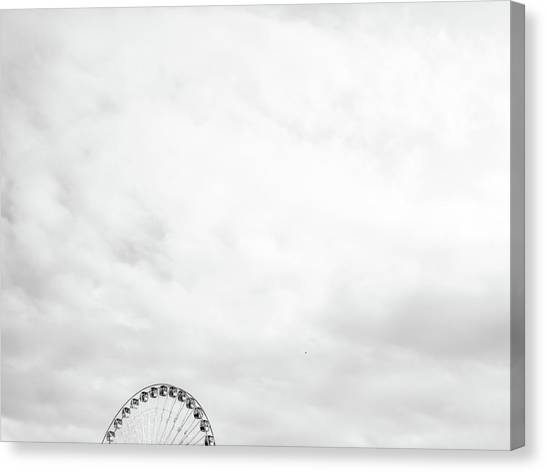 Ferris Wheel Clouds Canvas Print