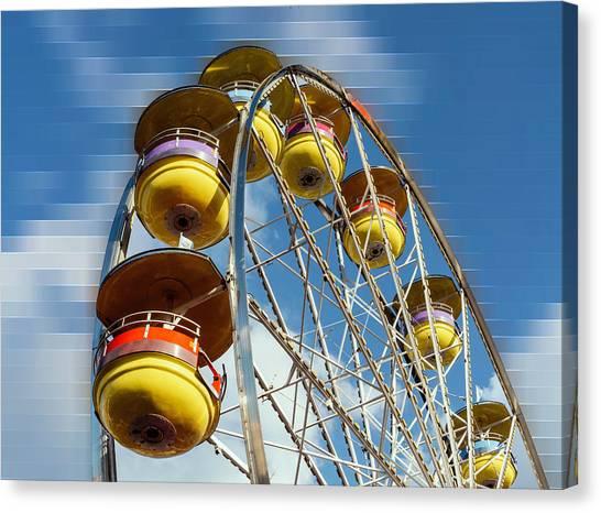 Ferris Wheel On Mosaic Blurred Background Canvas Print