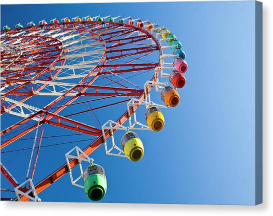 Ferris Wheel Canvas Print by St Yeo