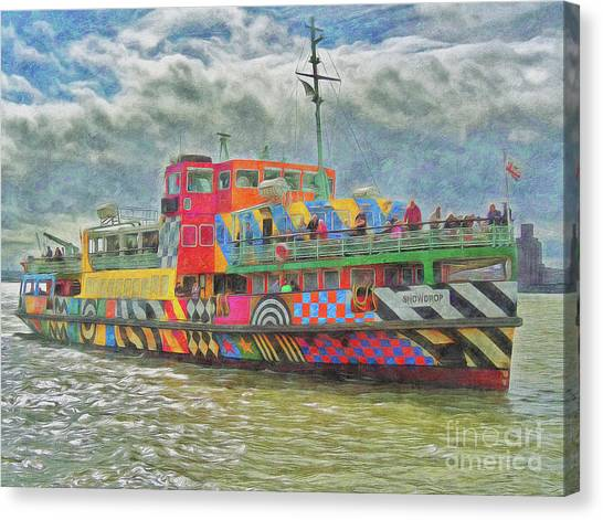 Canvas Print featuring the photograph Ferry Across The Mersey by Leigh Kemp