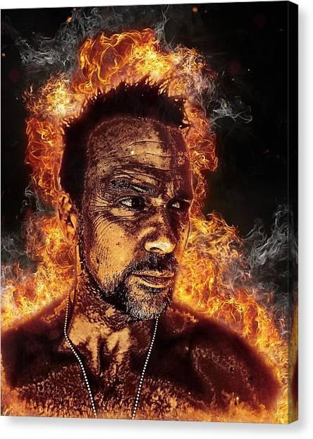 Fiery Flanery Canvas Print