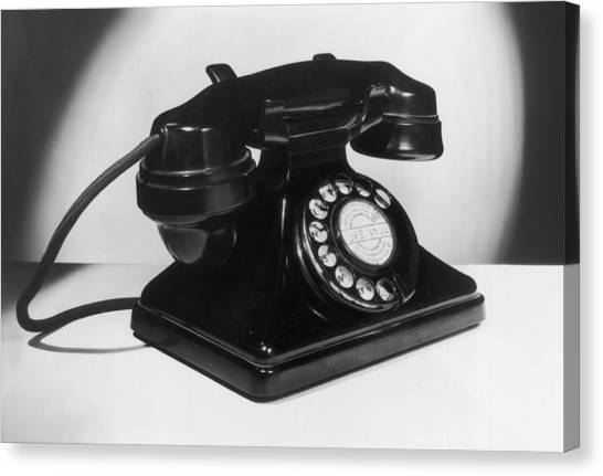 Fifties Telephone Canvas Print by Fox Photos
