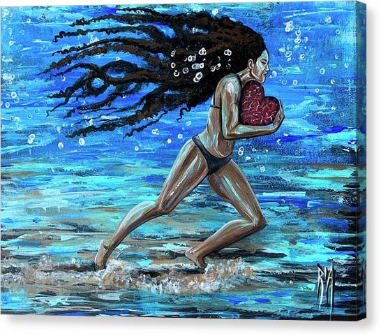 Women Canvas Print - Fight The Fine Fight Of The Faith by Artist RiA