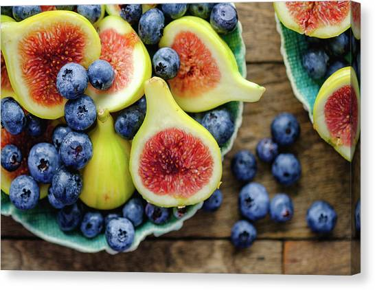 Figs And Blueberries Canvas Print