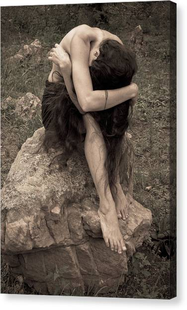 Canvas Print featuring the photograph Figurative V by Catherine Sobredo