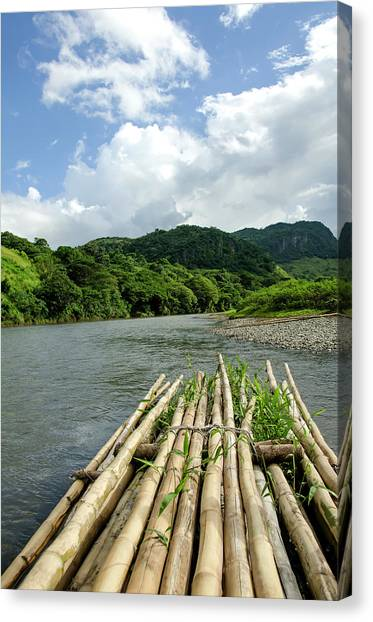 Fiji Sigatoka River Raft Canvas Print