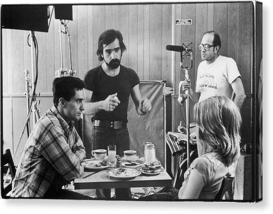 Filming Taxi Driver Canvas Print by Fred W. Mcdarrah