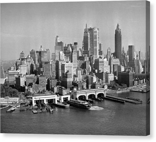 Financial District Cityscape Canvas Print by Fpg