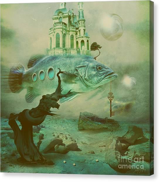 Canvas Print featuring the digital art Finding Captain Nemo by Alexa Szlavics
