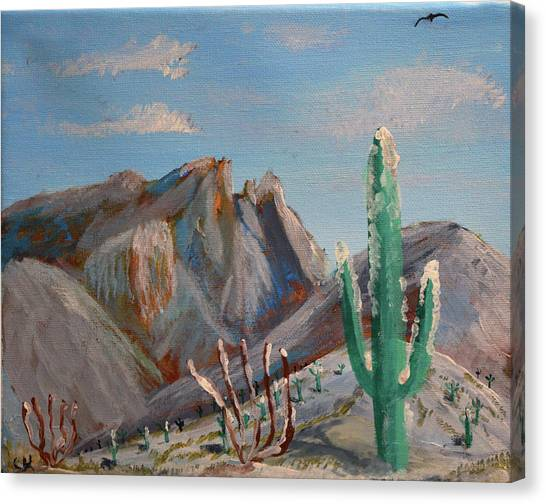 Canvas Print featuring the painting Finger Rock Winter by Chance Kafka