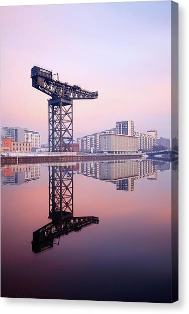 Finnieston Crane Reflection Canvas Print