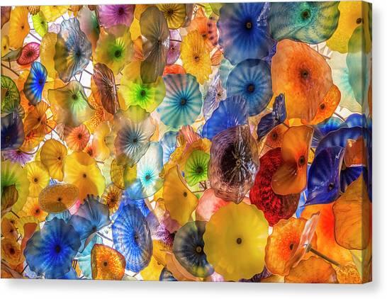 Installation Art Canvas Print - Fiori Di Como Murano Glass Ceiling In The Bellagio by Adam Romanowicz