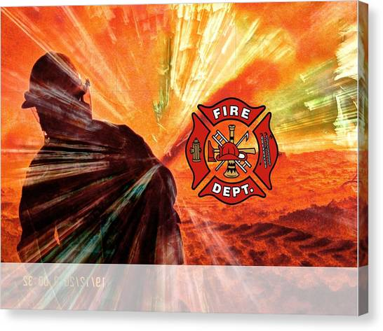 Fire Fighting 1 Canvas Print