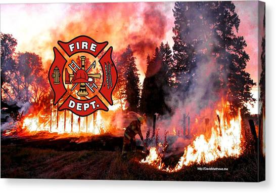 Fire Fighting 3 Canvas Print
