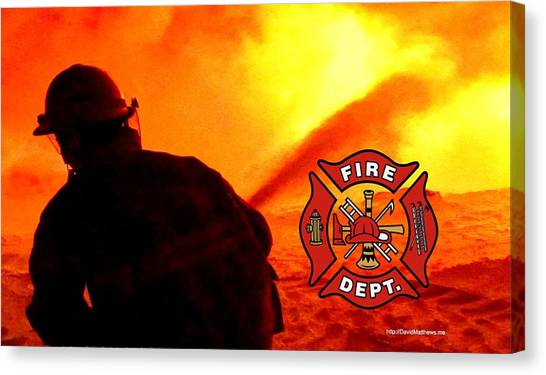 Fire Fighting 6 Canvas Print