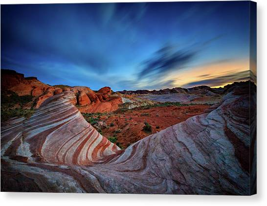 Valley Of Fire Canvas Print - Fire Wave Iv by Rick Berk