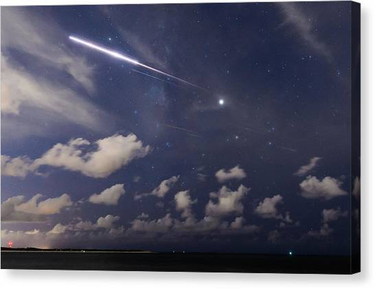 Fireball In The Sky Canvas Print