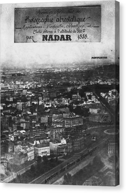 First Aerial Photo Canvas Print by Nadar