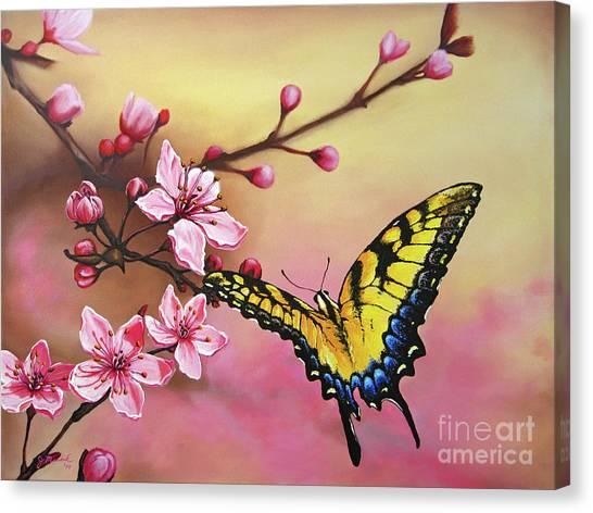 First Blossom Of The Morning Canvas Print