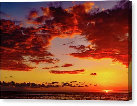 First November Sunset Canvas Print